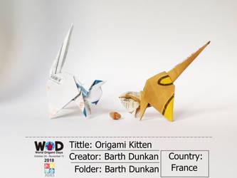 Origami Kitten - Barth Dunkan. by Barth-Dunkan