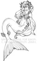 Mermaid lineart by bassanimation