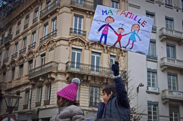 Manifestation pour le mariage gay en France (Lyon) by Bolbitius-Vitelinius