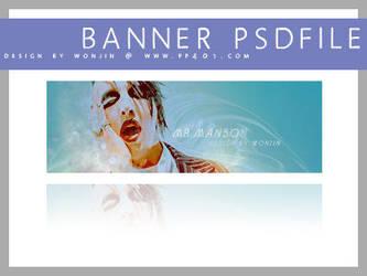 Banner psd - marilyn manson by wonjin
