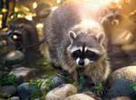 Raccoon Gang by OrangeRoom