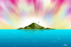 Secret Island - Matte by kandiart