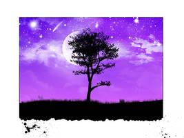 Night Moon by kandiart