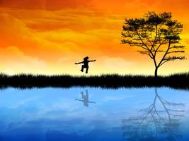 Water reflection by kandiart