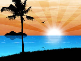 SunSet Ocean by kandiart
