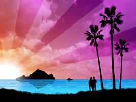 Paradise Ocean by kandiart
