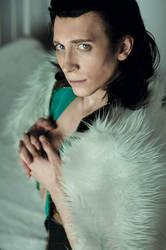 Loki in fur coat by TheIdeaFix