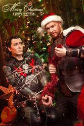 Loki Thor christmas by TheIdeaFix