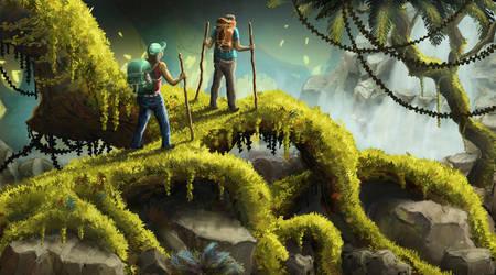 Test painting inspired by Daniel Lieske by noahboapoa