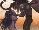 Tyrande and Illidan (+NSFW optional). by Taiss14