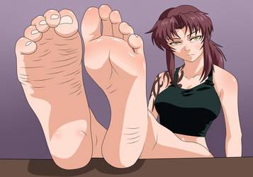 Revy feet by spiritP