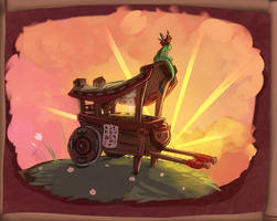 The noodle cart and the dragon by Konnestra