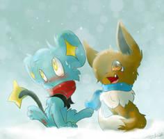 Oh, Look, it's Snowing! :HxP Secret Santa 2013: by SonicSketch