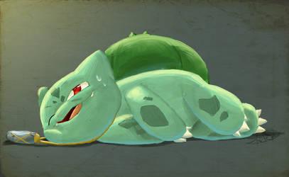 Sleepy Bulbasaur by SonicSketch