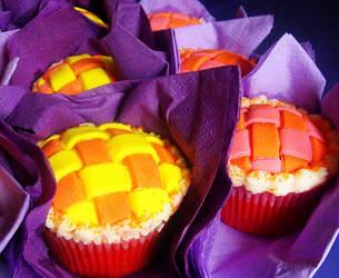 Red Velvet Lattice Cupcakes by cakecrumbs