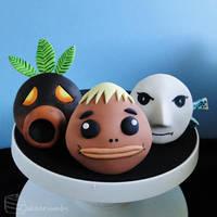 Majora's Mask: Mask Cupcake Set [Masks #1-3] by cakecrumbs