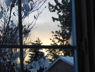 A wintery morning dawn by GypsyTurtle
