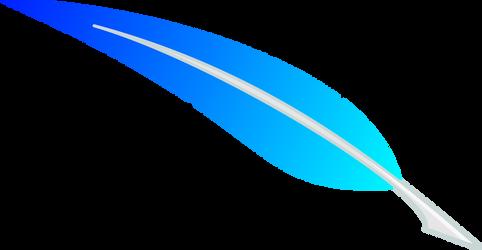 Vector: Skyblue Feather by Fennrick