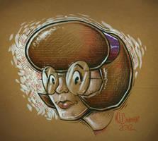 Nerd Girl Head by MJBivouac
