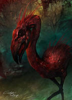 Plague Flamingo! by CTalmage