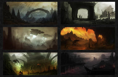 Environment Sketches 2 by CTalmage