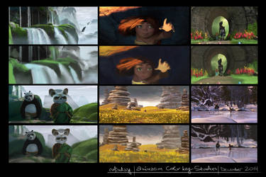 Animation color studies by ralidraws