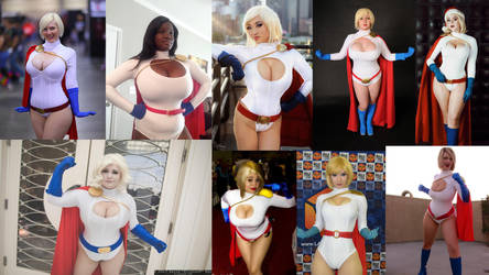 Cosplay Comparison - Power Girl by AMac145