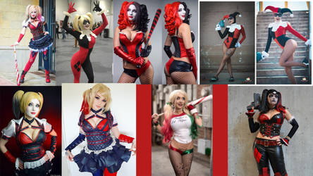 Cosplay Comparison  Harley Quinn by AMac145