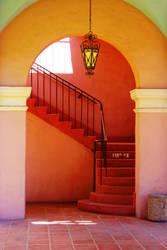 Stairwell in Sun by MiakadoArts