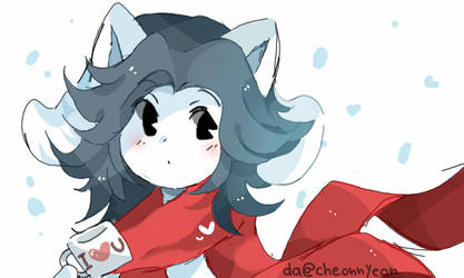 Winter Temmie by yioyio