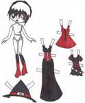 Blythe paper doll by vampireintherain