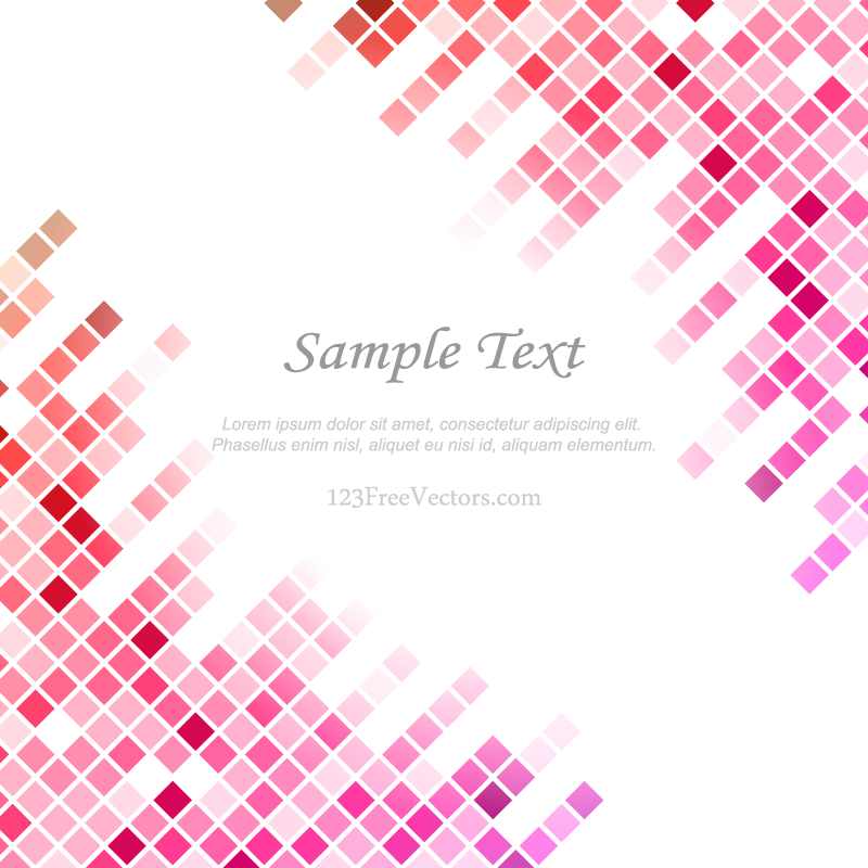 Pink Tile Background Free Vector By 123freevectors