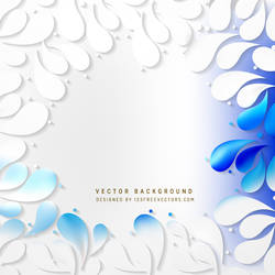 Blue White Arc-Drop Background Free Vector by 123freevectors