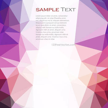 Low Poly Bright Colorful Background Free Vector by 123freevectors