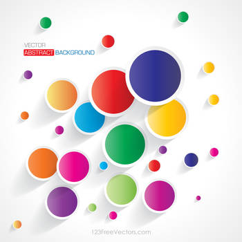 Abstract Colorful Circle Wallpaper Free Vector by 123freevectors
