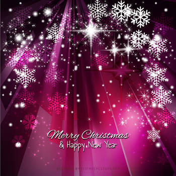 Dark Pink Sparkles Christmas Snowflake Background by 123freevectors