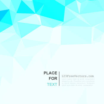 Light Turquoise Polygonal Background Free Vector by 123freevectors