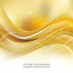 Yellow Wave Background Free Vector by 123freevectors