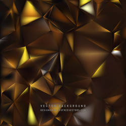 Brown Polygon Background Free Vector by 123freevectors