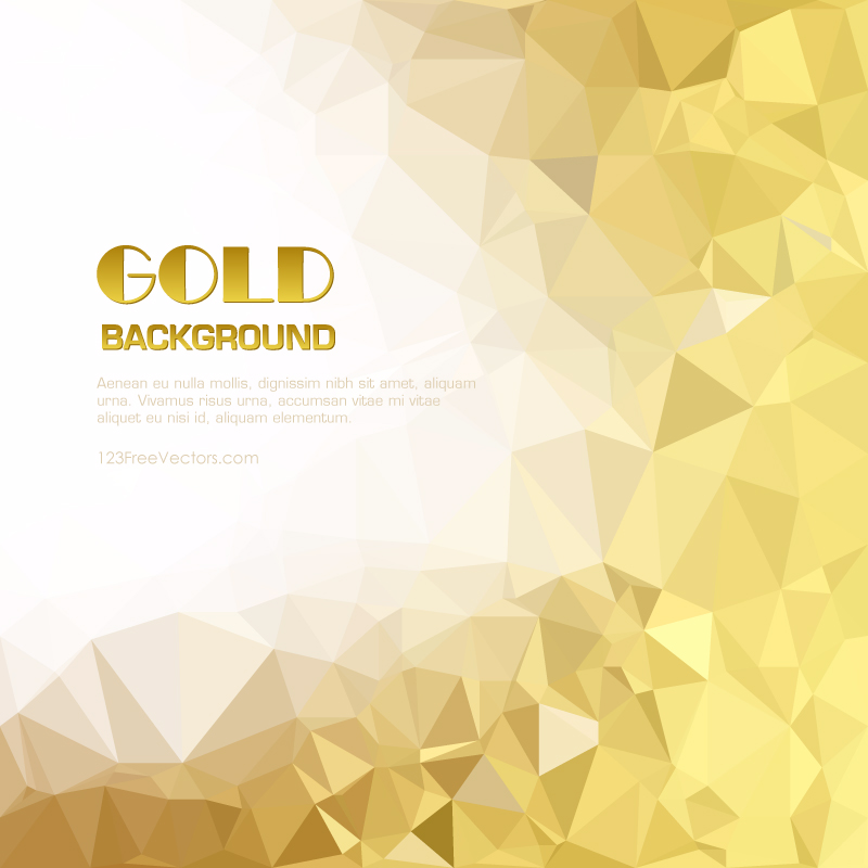 Low Poly Gold Background Free Vector by 123freevectors