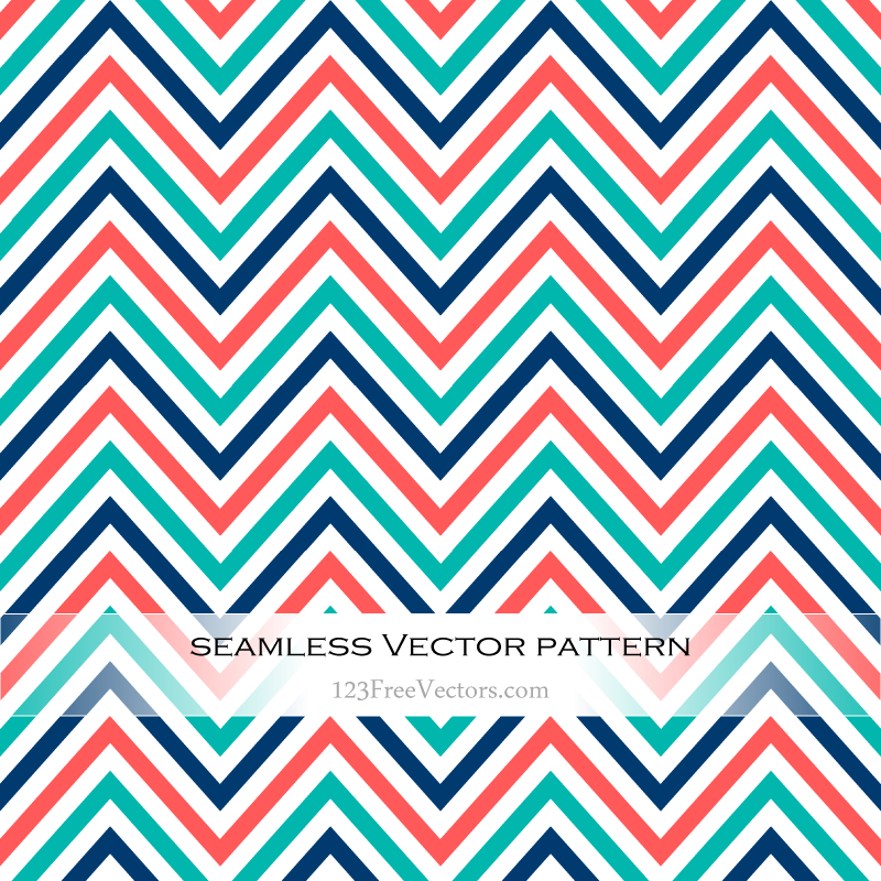 Colorful Zigzag Pattern Free Vector by 123freevectors