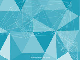 Blue Triangle Background Free Vector by 123freevectors