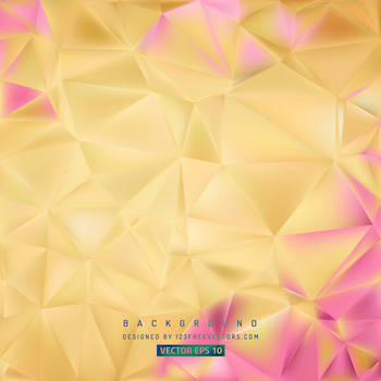 Yellow Pink Polygon Pattern Background Free Vector by 123freevectors