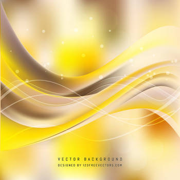 Yellow Beige Wave Background Free Vector by 123freevectors