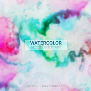 Colorful Watercolor Canvas Texture Free Vector by 123freevectors