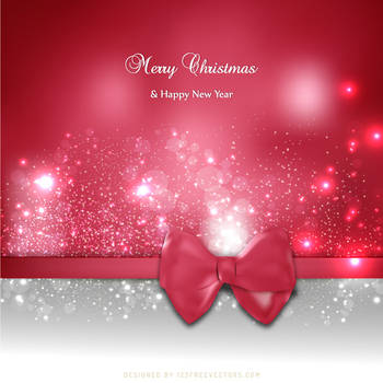 Amaranth Pink Christmas Greeting Card Background by 123freevectors