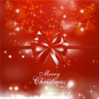 Red Christmas Bow Background Free Vector by 123freevectors