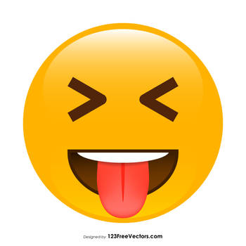 Face with Stuck-Out Tongue and Tightly-Closed Eyes by 123freevectors