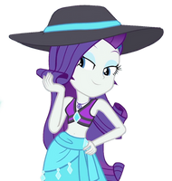 Rarity Swimsuit [MLP EQG Vector] by MarcoEquestrian98