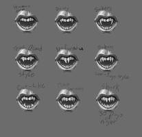 vampire teeth by Thecosmicgoose